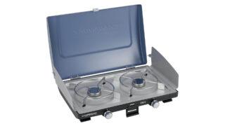 Estufa compacta con dos hornillas Campingaz