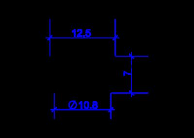 Technische Zeichnung von einem DREHMEISTER Schneidring für eine 6mm Flexleitung