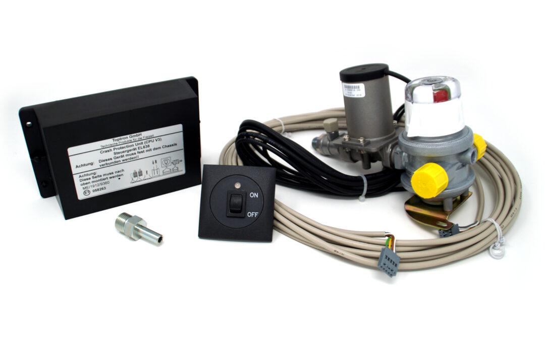 «Calefacción durante la conducción» con sistema electrónico Crash Sensor