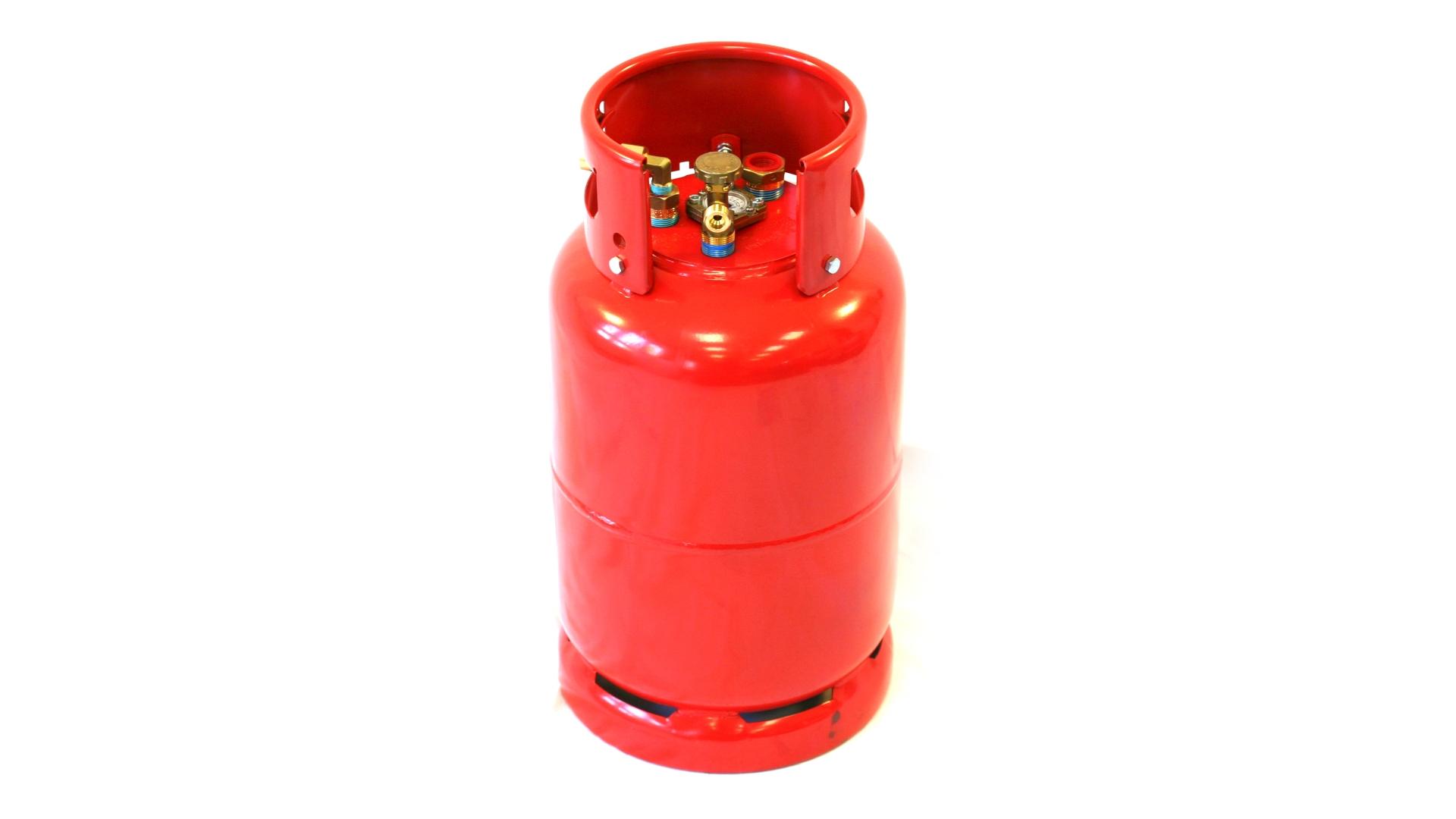 Cilindro de gas GZWM de 36 litros con válvula de tres puntos