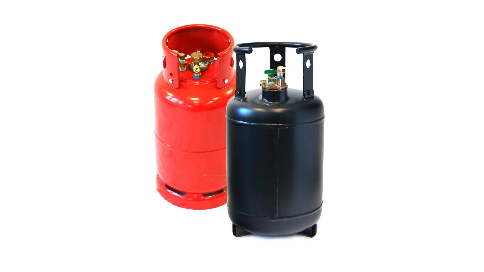 Cilindros de gas de acero