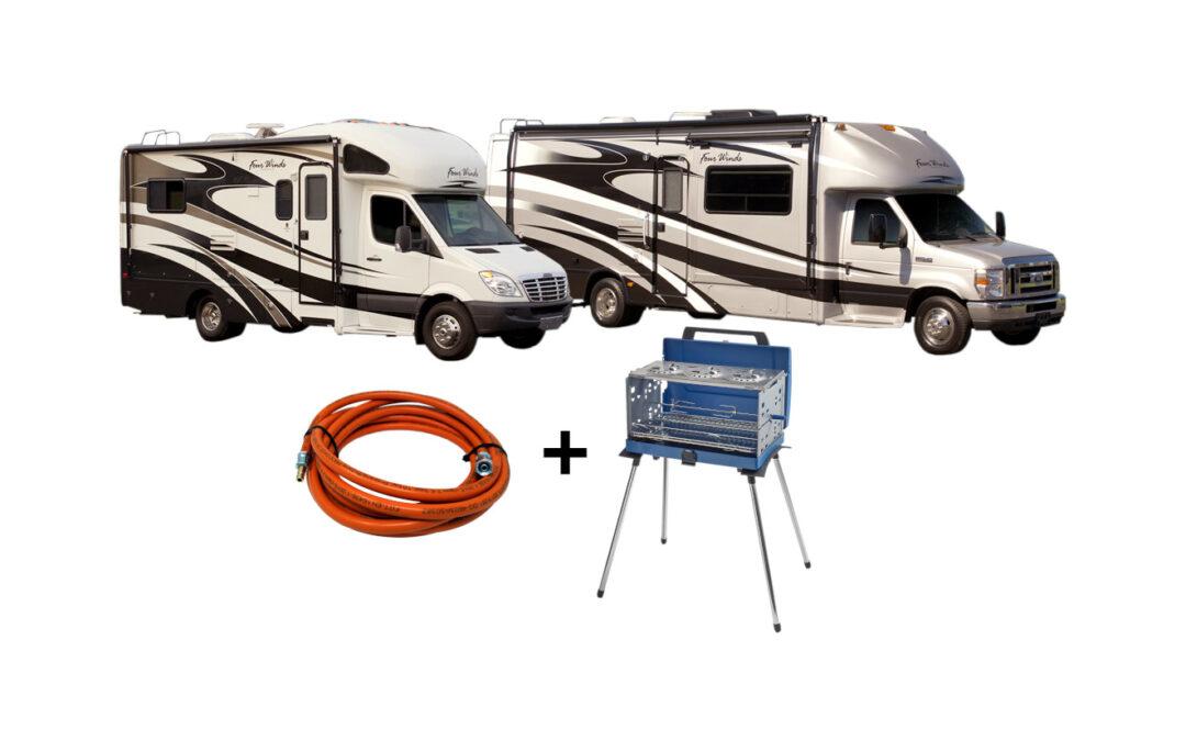 Mangueras de gas para uso externo en campings y caravanas