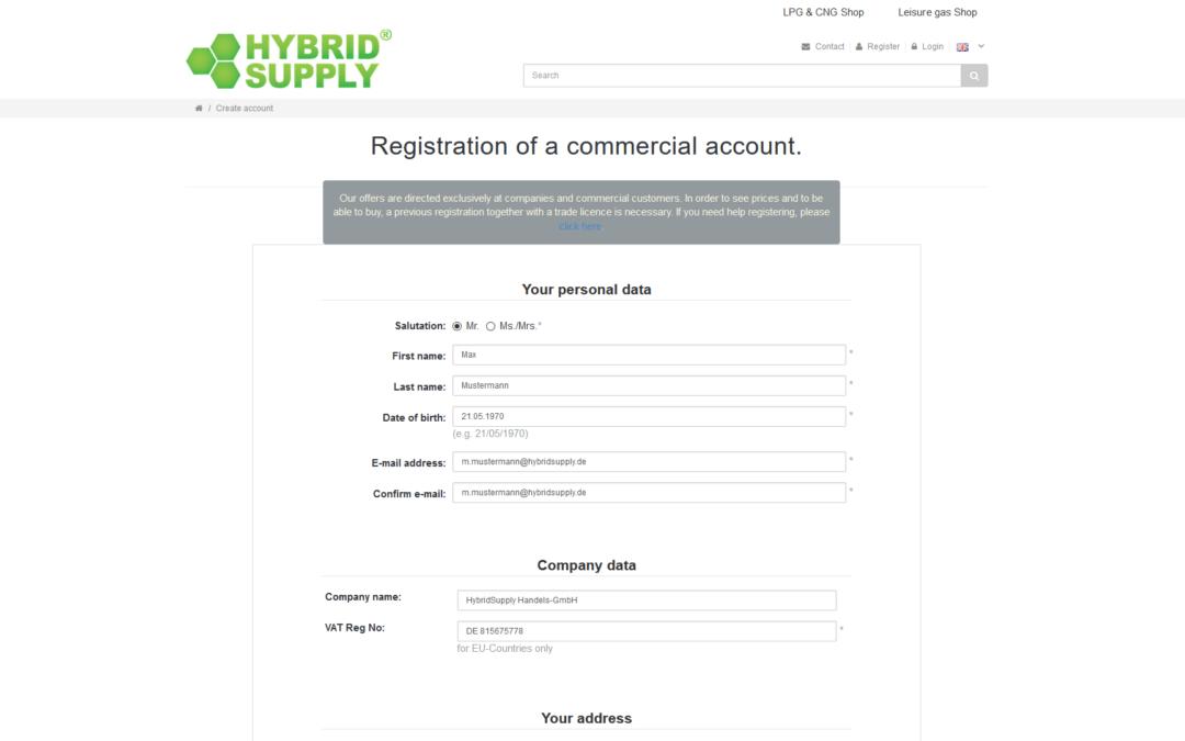 Vídeo de ayuda: Crear una cuenta para clientes comerciales